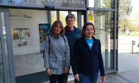 Walk and Talk Leaders Laura Hunt, John Hunt and Nicole Walker