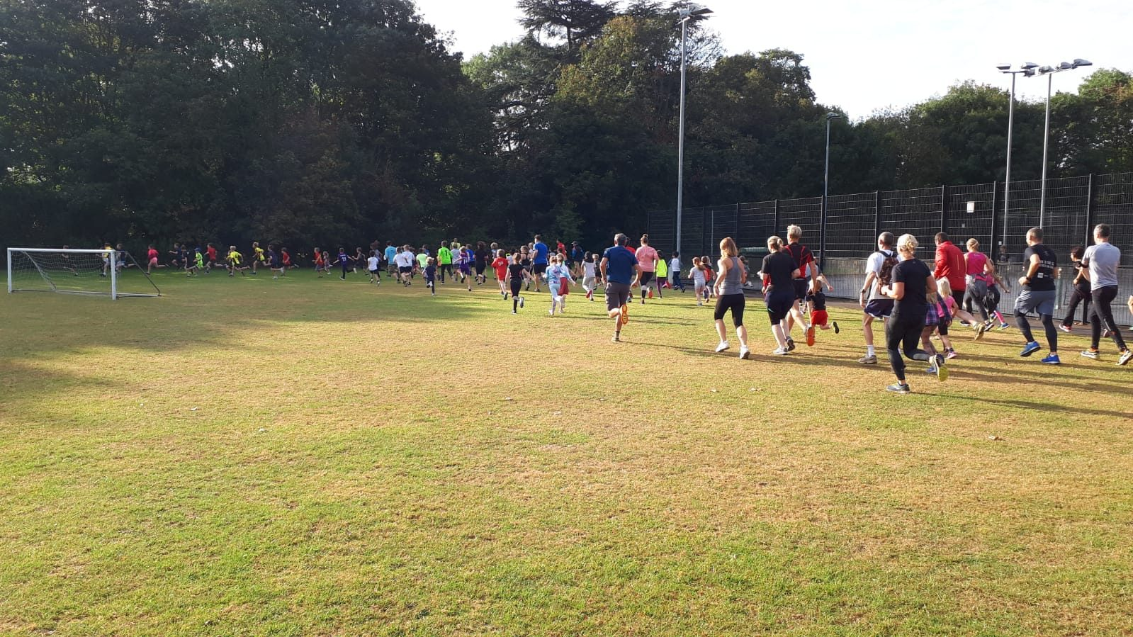 Runners taking part in the first Junior Parkrun