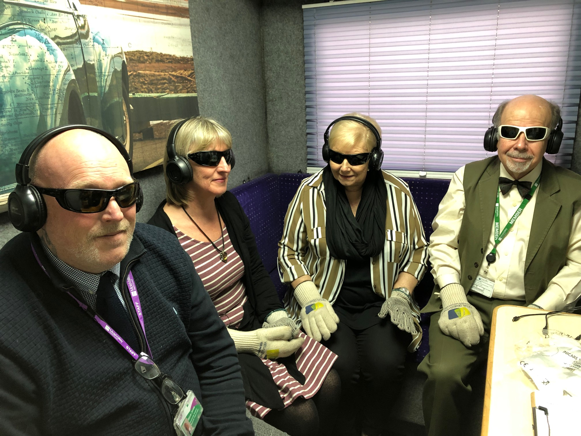 People experiencing the virtual Dementia experience