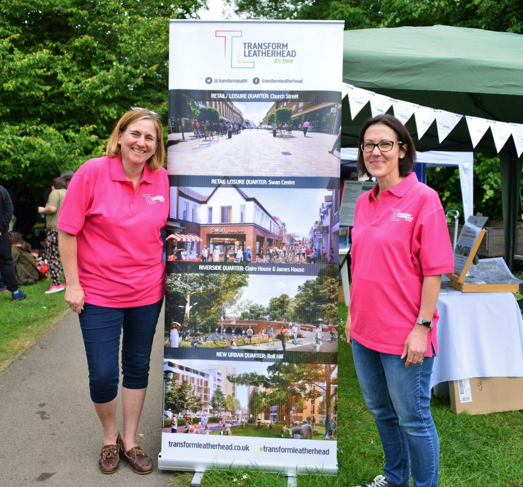 Members of the Transform Leatherhead team at community events