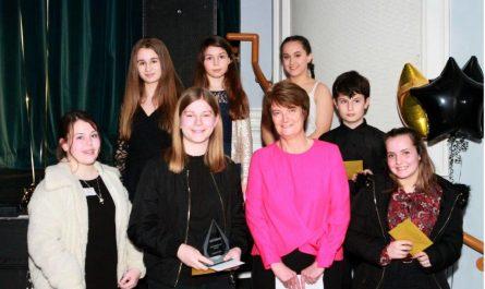Young Volunteer Award Winner: Jamie McLeod-Smith, with presenter Karen Brimacombe, CEO MVDC