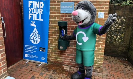Merlin the Mole trying out the new water refill point.