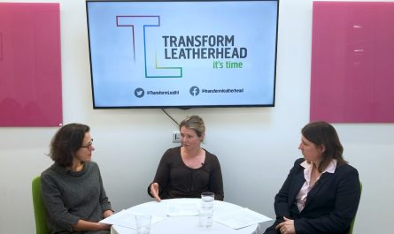 Panel answering questions for Transform Leatherhead Virtual Q and A