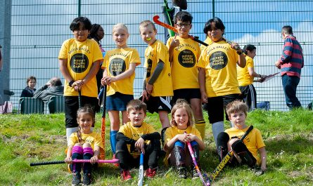 Hockey team at Surrey Youth Games in 2019