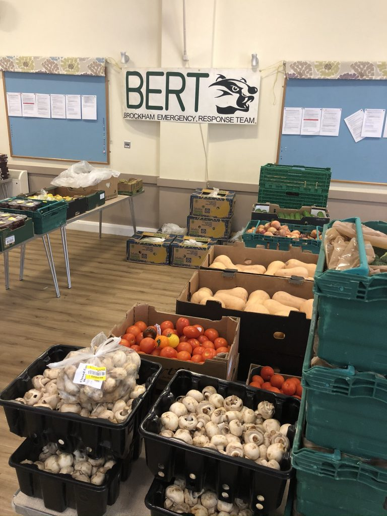 BERT - food ready to be distributed
